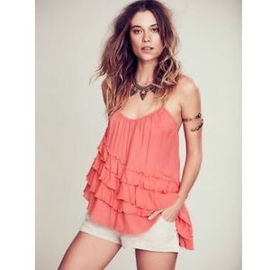 Free People Coral Flutter By Cami